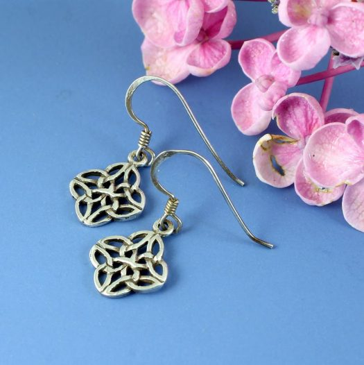 Celtic 4-Leaf Clover Earrings E-0196-d