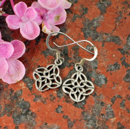 Celtic 4-Leaf Clover Earrings E-0196-e