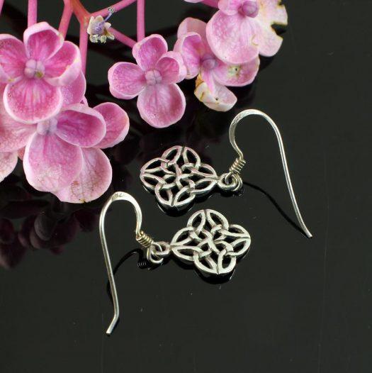 Celtic 4-Leaf Clover Earrings E-0196-f