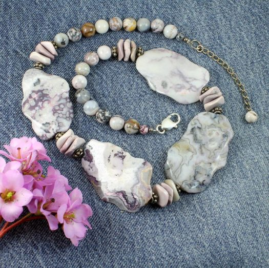 Crazy Lace Agate Statement N-0121-a