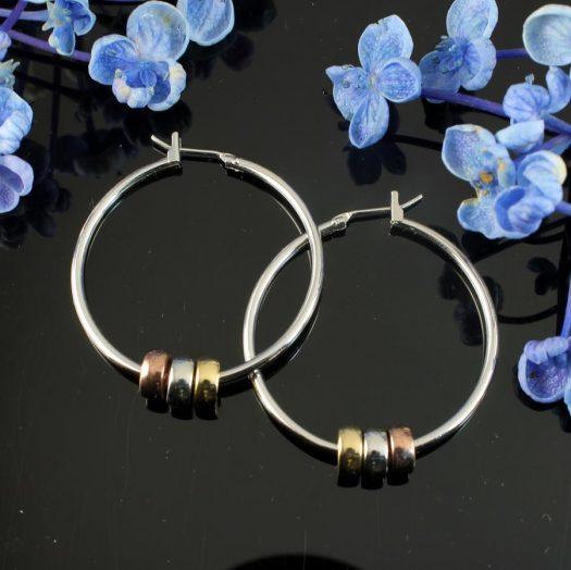 Fashion 3 Ring Hoops E-0189.a