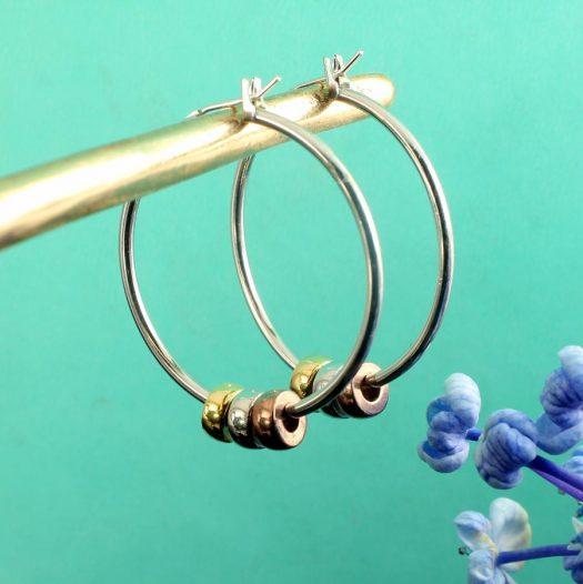 Fashion 3 Ring Hoops E-0189.b