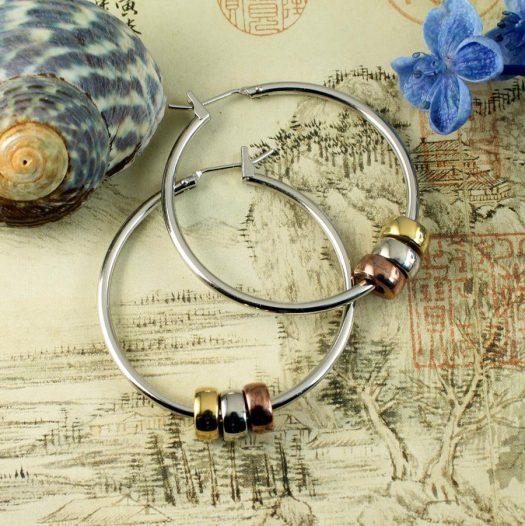 Fashion 3 Ring Hoops E-0189.c