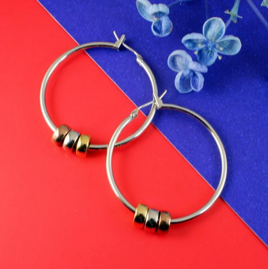 Fashion 3 Ring Hoops E-0189.d