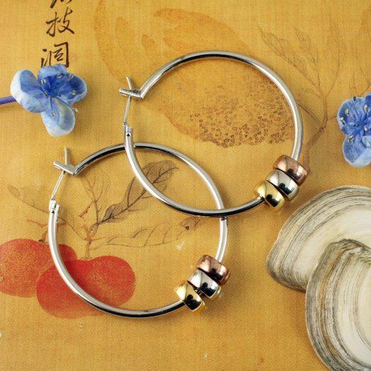 Fashion 3 Ring Hoops E-0189.e