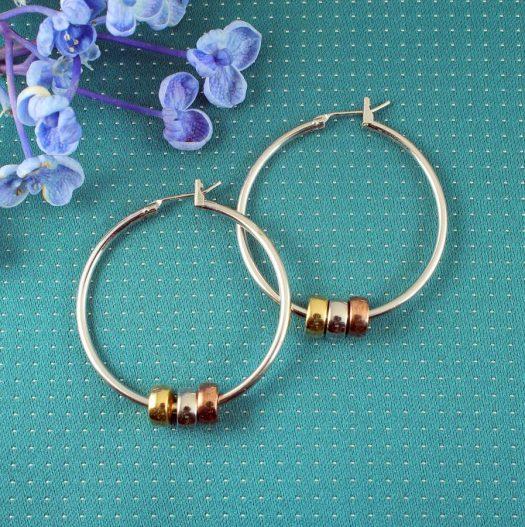 Fashion 3 Ring Hoops E-0189.f