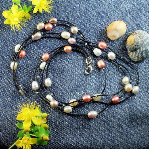 Floating Handpainted Pearls N-0109-a