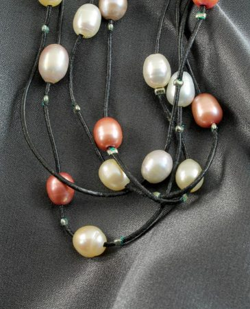 Floating Handpainted Pearls N-0109-b