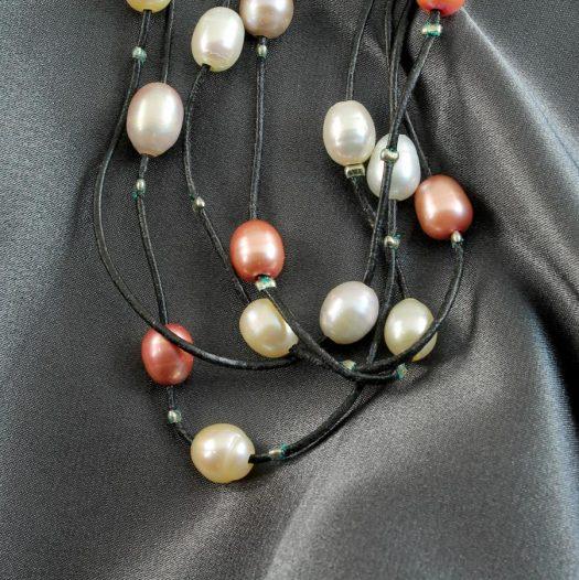 Floating Handpainted Pearls N-0109-b