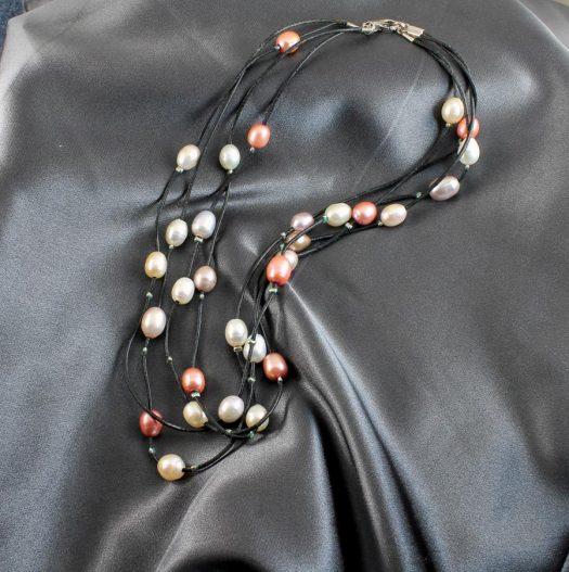 Floating Handpainted Pearls N-0109-d