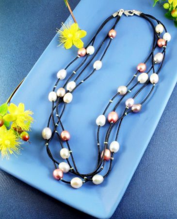 Floating Handpainted Pearls N-0109-g