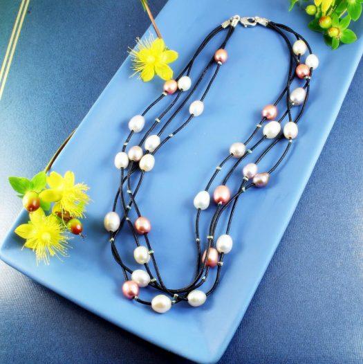 Floating Handpainted Pearls N-0109-g