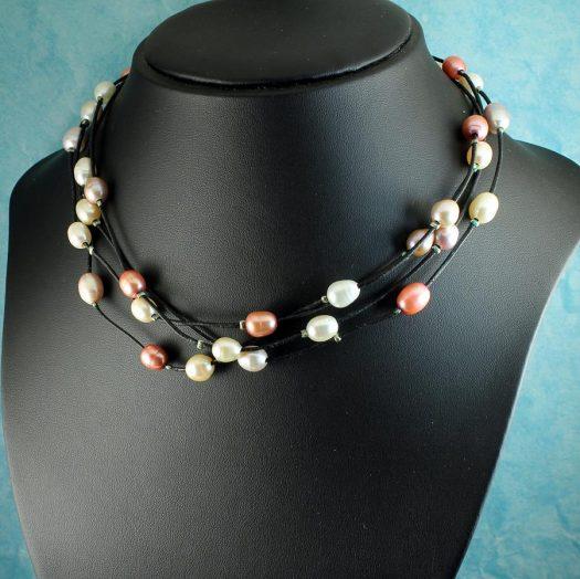 Floating Handpainted Pearls N-0109-i