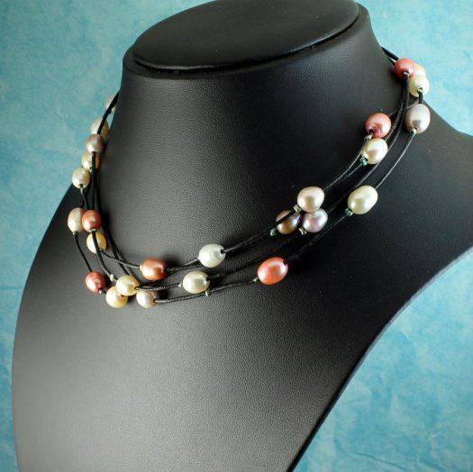 Floating Handpainted Pearls N-0109-k