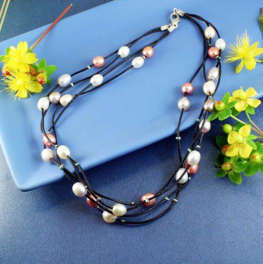 Floating Handpainted Pearls N-0109-l