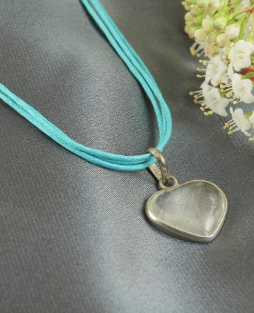 Frosted Heart Pendant N-0130-a