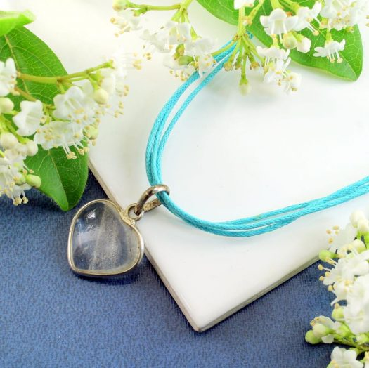 Frosted Heart Pendant N-0130-h
