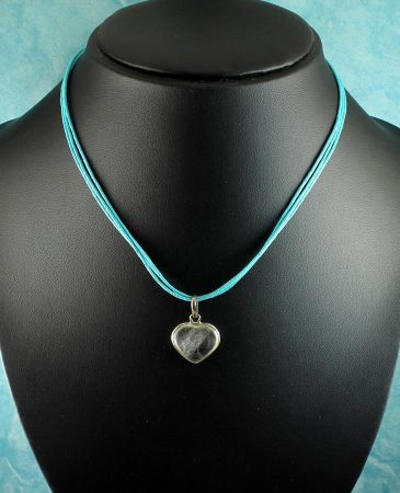 Frosted Heart Pendant N-0130-l