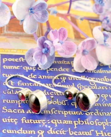 Garnet Two-Stone Earrings E-0174-b
