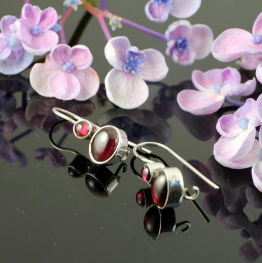 Garnet Two-Stone Earrings E-0174-e