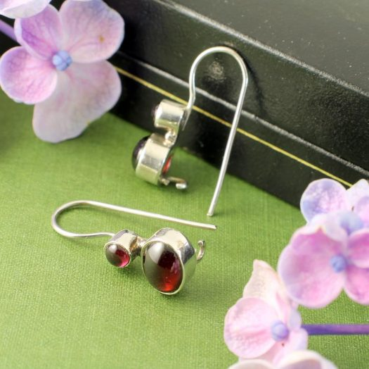Garnet Two-Stone Earrings E-0174-g