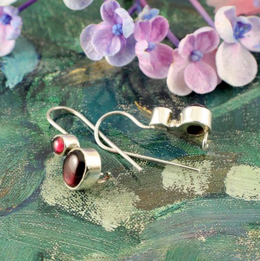 Garnet Two-Stone Earrings E-0174-i