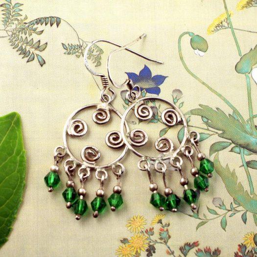 Green Chandelier Circles E-0199-f