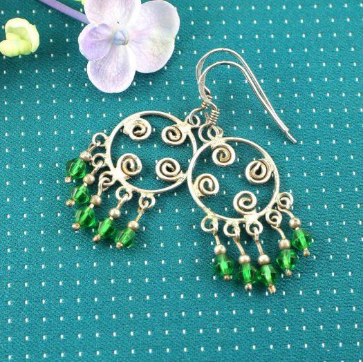 Green Chandelier Circles E-0199-i