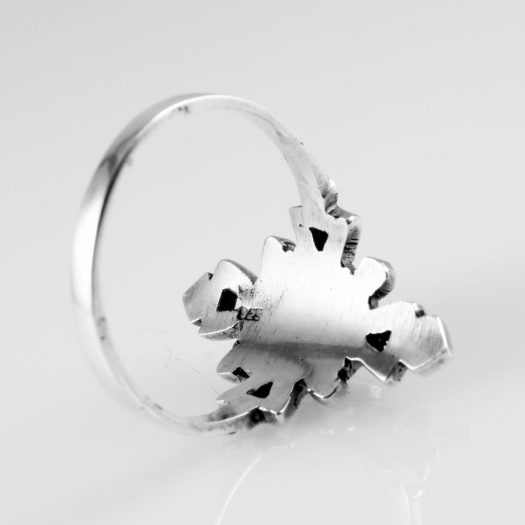 Lapis & Silver Aztec Ring R-0196-l