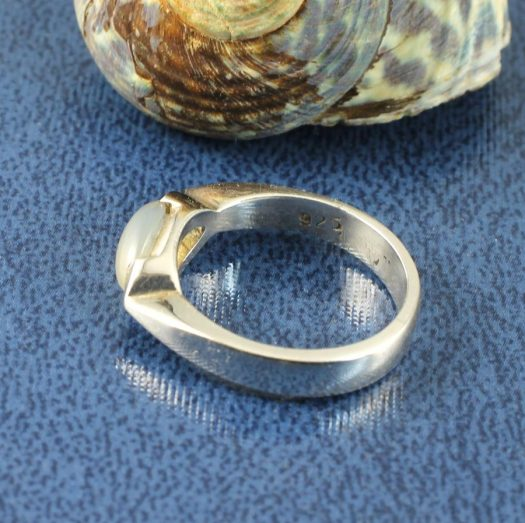 Moonstone Oval Ring R-0204-c