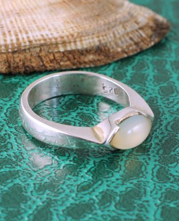 Moonstone Oval Ring R-0204-f