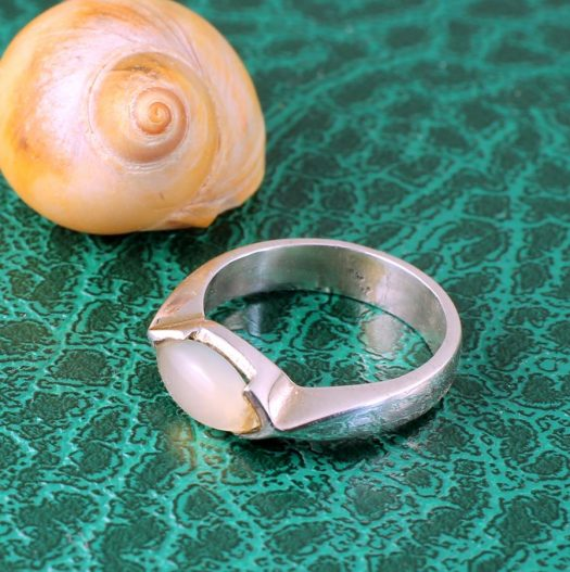 Moonstone Oval Ring R-0204-h