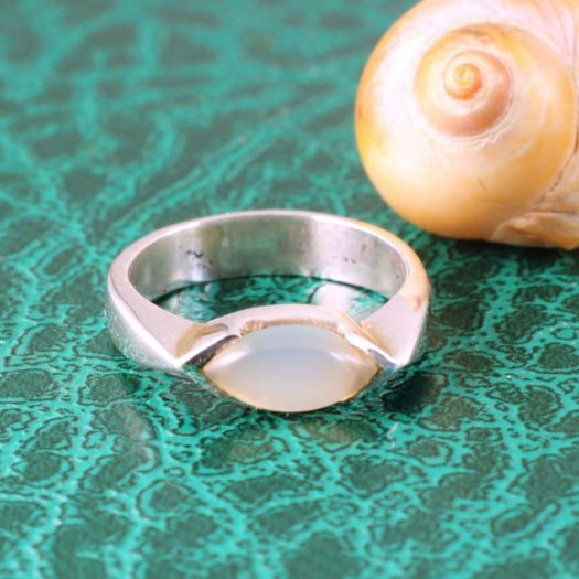 Moonstone Oval Ring R-0204-i