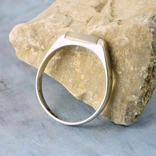 Moonstone Rectangle Ring R-0205-a