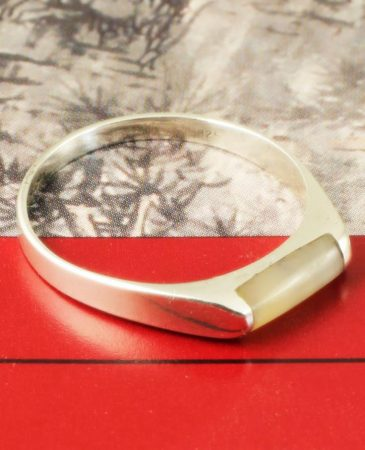 Moonstone Rectangle Ring R-0205-c
