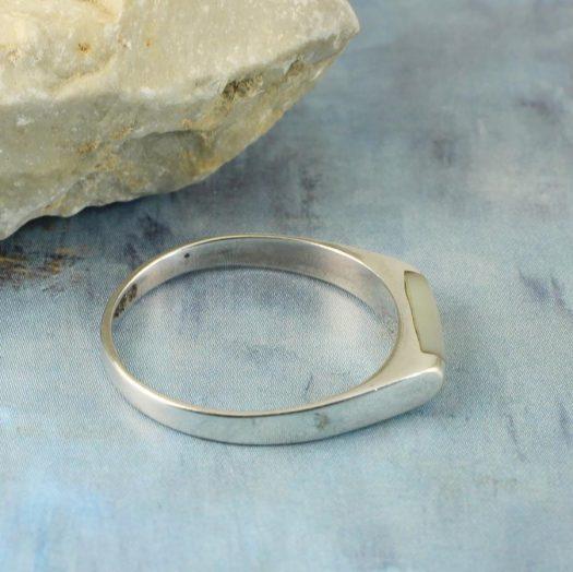 Moonstone Rectangle Ring R-0205-e