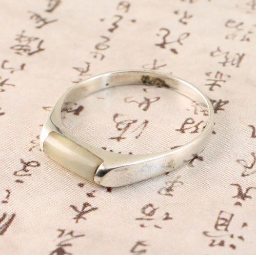 Moonstone Rectangle Ring R-0205-f