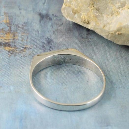Moonstone Rectangle Ring R-0205-g