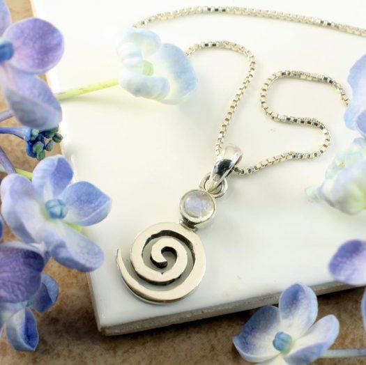Moonstone Spiral Pendant N-0226-g