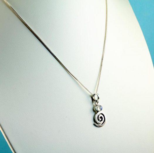 Moonstone Spiral Pendant N-0226-l