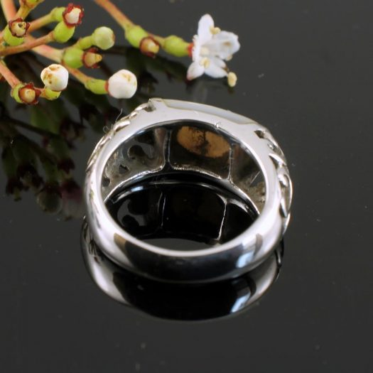 Mother-of-Pearl Filigree Ring R-0201-c