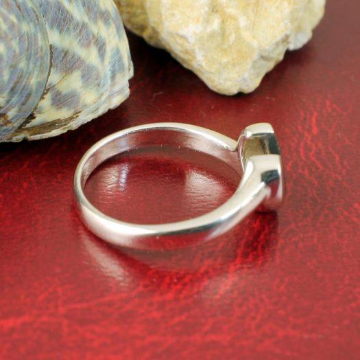 Onyx Heart Ring R-0199-c