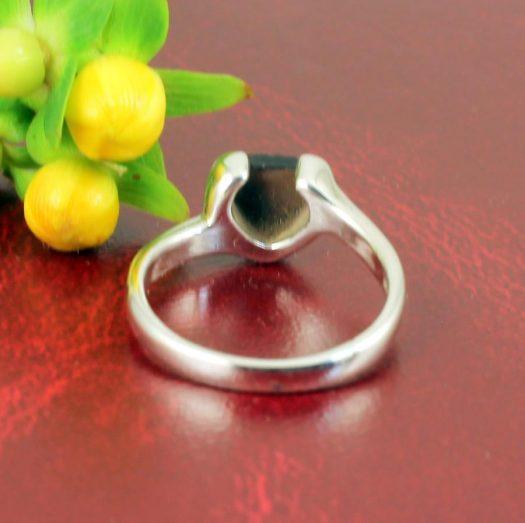 Onyx Heart Ring R-0199-g
