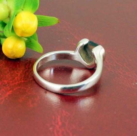 Onyx Heart Ring R-0199-h