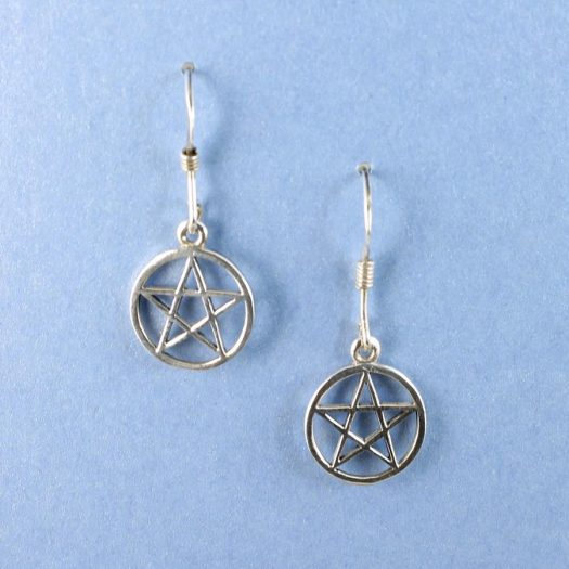 Openwork Pentacle Earrings E-0184-a