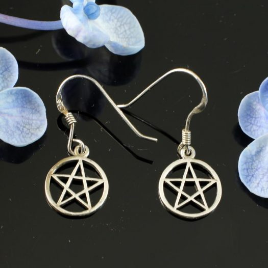 Openwork Pentacle Earrings E-0184-b
