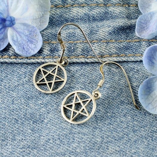 Openwork Pentacle Earrings E-0184-c
