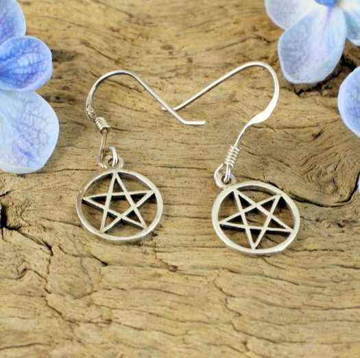 Openwork Pentacle Earrings E-0184-d