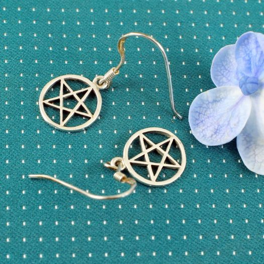 Openwork Pentacle Earrings E-0184-e
