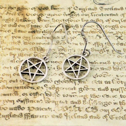 Openwork Pentacle Earrings E-0184-f